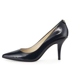 Michael Kors MK Flex Patent Leather Mid Pump Heels